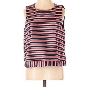 ZARA TRAFALUC Stripes Crop Top Sz Small